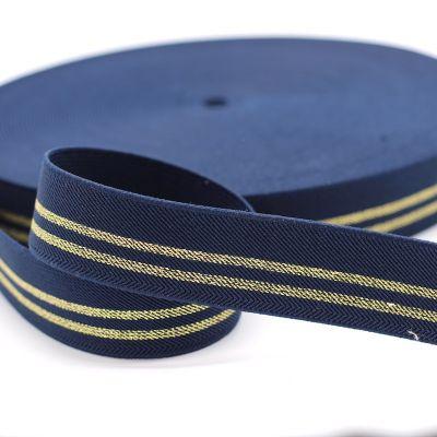 Elastique Lurex Or bleu foncé