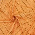 Tissu en coton origami blanc sur fond orange