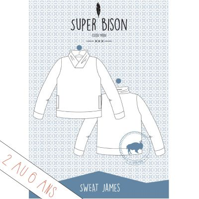 Patron sweat James 2-6 ans