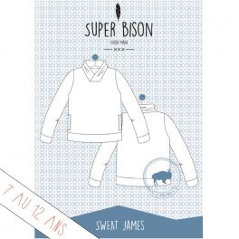 Patron sweat James 7-12 ans