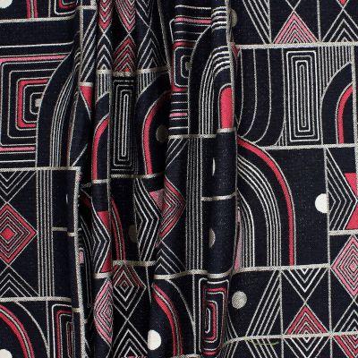 Jacquard fabric with geometric design