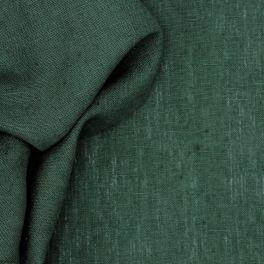 100% voorgewassen linnen - effen glasgroen
