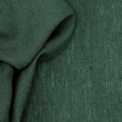 Tissu en 100% lin lavé uni vert sycomore