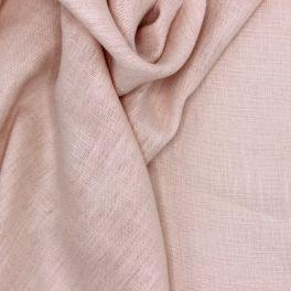 Tissu en 100% lin lavé uni chair