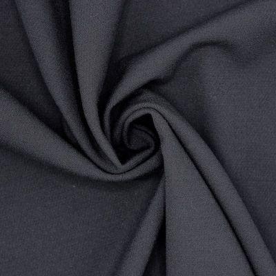 Tissu polyester fluide, lourd et stretch noir