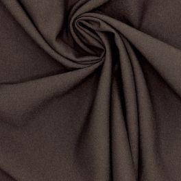 Tissu sergé stretch,fluide et lourd brun