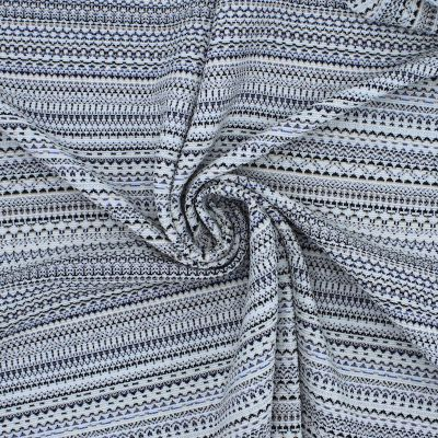 Jersey stof witte en blauw  strepen