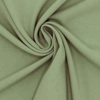 Tissu polyester fluide, lourd et stretch vert