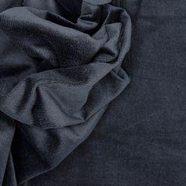 Tissu en velours Milleraies stretch noir