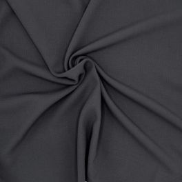 Tissu polyester fluide, lourd et stretch bleu