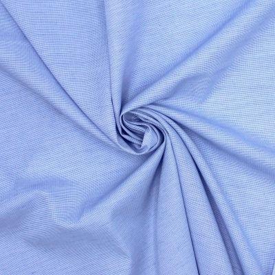 Popeline de coton jacquard bleu