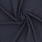 Crêpe met fijne strepen - marineblauw