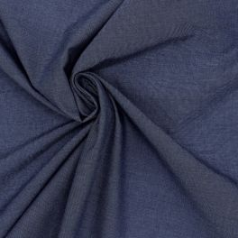 Tissu en coton et élasthanne bleu