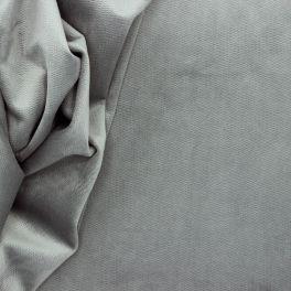 Tissu en velours imitation serpent gris