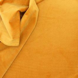 Tissu en velours imitation serpent moutarde