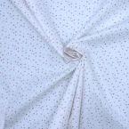 Cretonne bedrukt met stippen en sterren - wit achtergrond