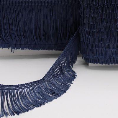 Galon à franges bleu