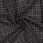 Tissu en viscose à carreaux bleu nuit