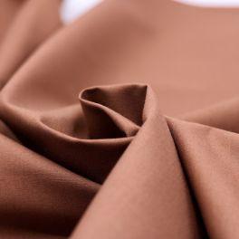 Tissu Coton et polyester rouille