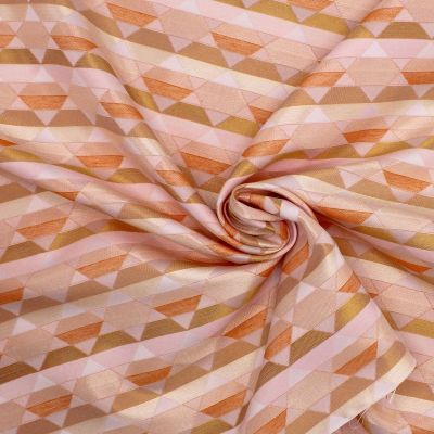 Stretch viscose fabric with floral print