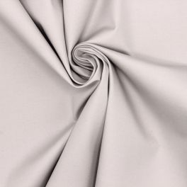 Satin Cotton and elasthanne fabric with white dots on black background