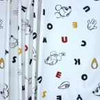 Printed furniture fabric with illustration pattern