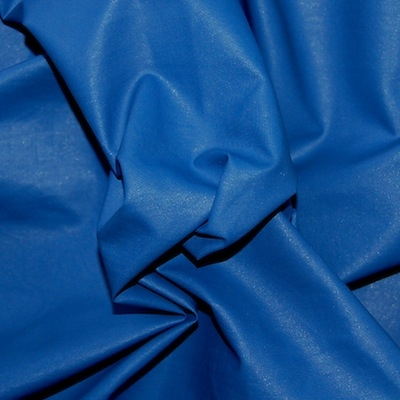Windproof blue microfiber polyester fabric