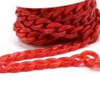 Blinkend plastieke ketting - rood