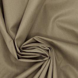 Tissu en polyester et coton uni kaki