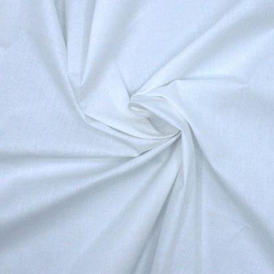 Tissu en coton et polyester blanc