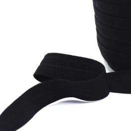 Elastique bretelle lingerie plat 20mm noir