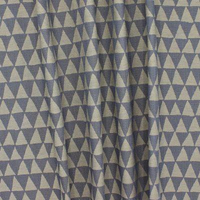 Tissu  double face à triangles beige et gris