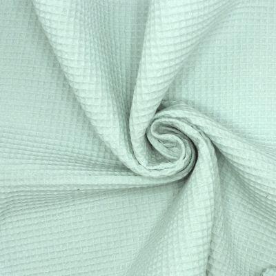 Piqué de coton gaufré nid d'abeille vert d'eau