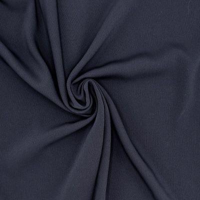 Tissu polyester fluide, lourd et stretch marine