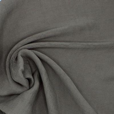 Tissu polyester lourd et stretch taupe