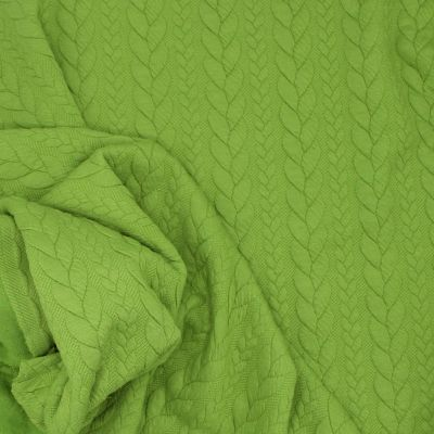 Tissu jersey matelassé à motif torsade pomme