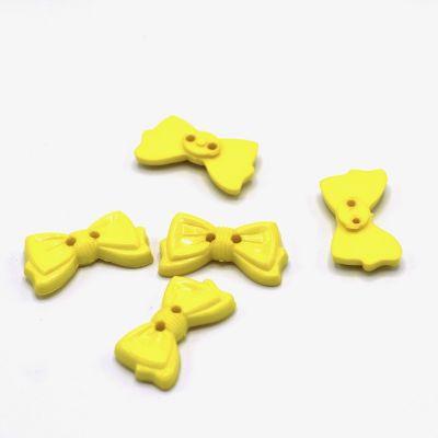 Bouton noeud jaune
