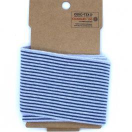 Bord côte ligné bleu clair et bleu jeans