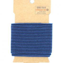 Bord côte ligné bleu jeans et marine