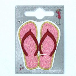 Tongs roses thermocollant