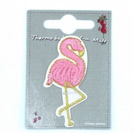 Flamant rose thermocollant