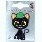 Opstrijkbare zwarte kat