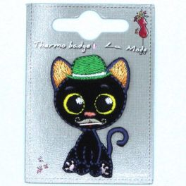 Chat noir thermocollant