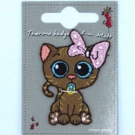 Chatte brune thermocollant