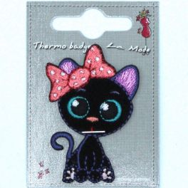 Chatte noire thermocollant