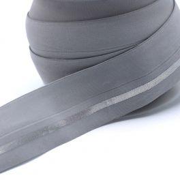 BIAIS élastique gris ligné argenté