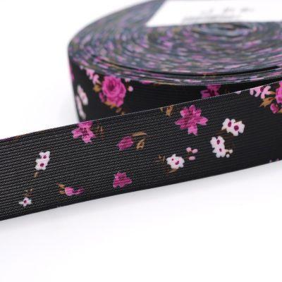 ceinture élastique imprimé fleur