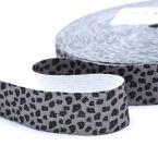 ceinture élastique imprimé Panthère gris avec  lurex