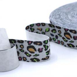ceinture élastique imprimé Panthère multicolore