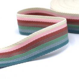 Sangle polyester lignée multicolore